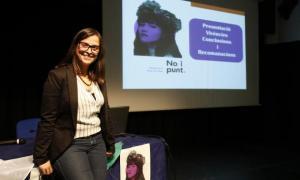 La presidenta d'Stop Violències, Vanessa M. Cortés.