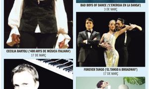Andorra, Temporada de Música i Dansa, MoraBanc, Josep Maria Escribano, Cecilia Bartoli, Alexandre Tharaud, Bad Boys of Dance, Forever Tango, Rufus Wainwright
