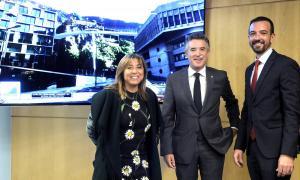 SFG/ La cònsol major d'Andorra la Vella, Conxita Marsol; el síndic general, Vicenç Mateu, i el ministre d'Ordenament Territorial, Jordi Torres