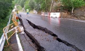 L'estat de la carretera de la Peguera.