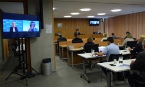 Un instant de la compareixença dels experts davant la comissió.
