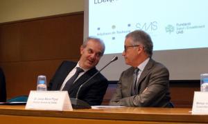 ANA/ El ministre de Salut, Carles Álvarez, i el director general del SAAS, Josep Maria Piqué,