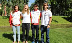 D'esquerra a dreta, Chourraut, Vilarrubla, Travé i Diez-Canedo.