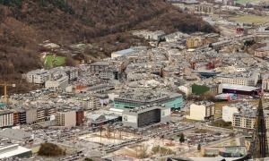 Una vista de la vall central.