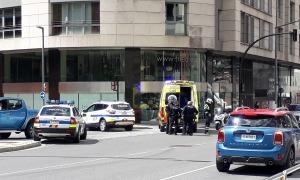 Un moment de la intervenció a la confluència entre l'avinguda del Consell d'Europa amb el carrer Josep Rosell Calva.
