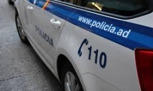Un cotxe de policia.