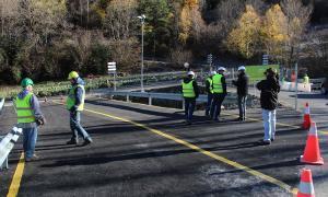 La zona de la Plana ja compta amb un pont provisional a l'espera de la construcció del nou  La zona de la Plana ja compta amb un pont provisional a l'espera de la construcció del nou
