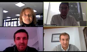 Un moment de la trobada virtual de Padreny amb els representants de l'AIVA.