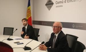 David Rios i Enric Riba en una compareixença.