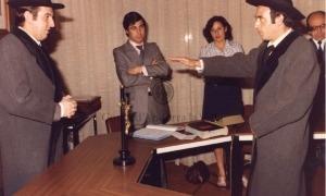Antoni Puigdellívol, com a cònsol major, pren jurament a Joan Samarra com a cònsol menor.