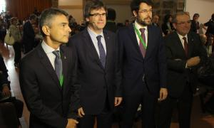 El president de la Generalitat de Catalunya, Carles Puigdemont, a l'inici de la Trobada Empresarial al Pirineu aquest divendres
