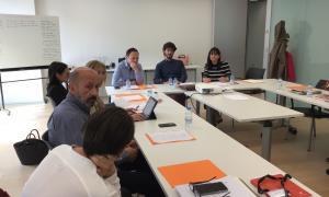 Un moment de la primera reunió del grup parlamentari demòcrata.