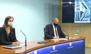 La ministra i l'alcalde d'Organyà, Celestí Vila, presentant l'edició de la fira.