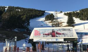 La pista Roc Blanc de la Molina.