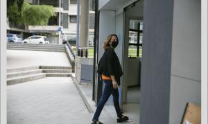 Rosa Gili aquest dilluns després d'anunciar la seva baixa del PS.