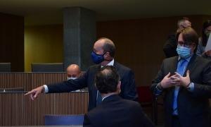 El ministre de Justícia i Interior, Josep Maria Rossell, avui al Consell General.