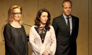 Instants abans del nomenament dels saig Lourdes Alonso, Xavier Granyó i Goretti López