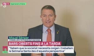El conseller d'Interior en funcions de la Generalitat, Miquel Sàmper.