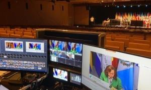 Un moment de la reunió telemàtica dels ministres iberoamericans de Relacions Internacionals.