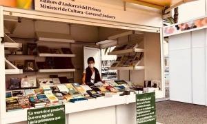 L'estand d'Andorra en una edició anterior a la Setmana del llibre en català.