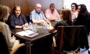 La trobada de Judith Pallarés amb els representats del Sispaag.