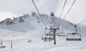 Una estació d'esquí.