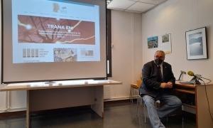 Jacint Risco, en la presentació de la nova web de Trana, aquest matí.