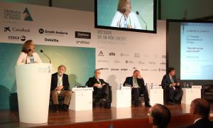Un moment de la taula rodona 'Experiències empresarials de 5 directius que ja han decidit'