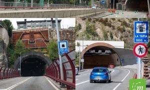Talls en diversos túnels del país per treballs de neteja.