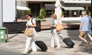 Turistes a Escaldes-Engordany.