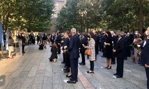 Maria Ubach a l'acte de commemoració del 20è aniversari dels atemptats de l'11 de setembre.