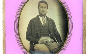 Daguerreotip datat entre el 1840 i el 1850; el personatge retratat podria ser Boaventura de Riba (1819-finals del segle XIX).