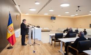 El president del Consell Superior de la Justícia, en l'obertura de l'Any judicial que ha tingut lloc aquest matí a la seu de la Justícia.