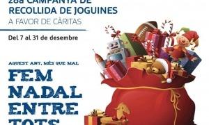 El cartell de la 28a campanya de recollida de joguines.