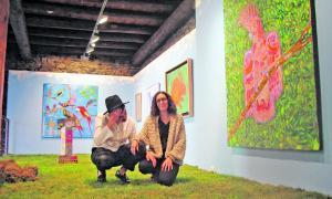 Andorra, exposició, Riberaygua, Sara Valls, Carme Tinturé, Ivan Forcadell, Garden, jardí, Basquiat, Haring, Wei Wei