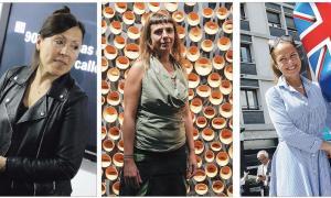 Sam Bosque, Eve Ariza i Laurence Jenkell, tres de les cinc úniques dones que van tenir l'honor d'una indivisual el 2017.