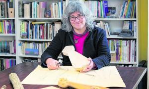 La historiadora catalana Laura de Castellet, becada pel Centre d'Estudis Històrics i Polítics de l'IEA.