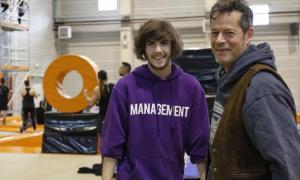 JOrge Sanz, amb el seu fill, al 360 Xtrem: tots dos protagonitzaran 'The Straw', un dels llargs que es rodaran aquest curs a Andorra.