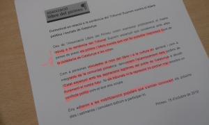 El comunicat aprovat ahir per unanimitat per la junta de l'associació Llibre del Pirineu.