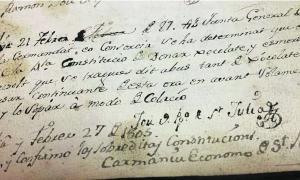 Anotació al llibre d'actes del Consell de Carnestoltes del 27 de febrer del 1787.