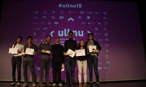 Guanyadors del Festival de cinema emergent d'Andorra, Ull Nu, en la gala de premis d'aquest dissabte a la nit.