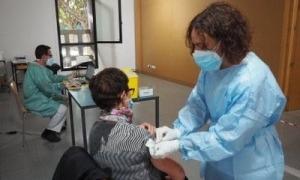 Imatge d'arxiu de la campanya de vacunació a la Seu.