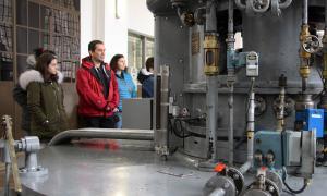 Les entranyes de la Central Hidroelèctrica al descobert