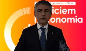 El president de la Trobada Empresarial al Pirineu, Vicenç Voltes, durant la presentació de la jornada.