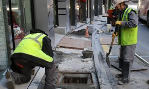 Escaldes-Engordany repren els treballs de renovació de les voravies de la parròquia