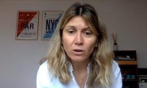 La cofundadora i CEO de Manzaning, Eva Tomàs, en un moment del webinar de l'EFA.