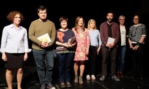 Els guanyadors del concurs de poesia del 2018.