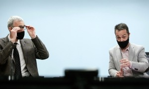 Èric Bartolomé i Josep Pujol han presentat el pla Engega 2021.
