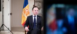 El cap de Govern, Xavier Espot, durant el tradicional missatge de Cap d'Any.