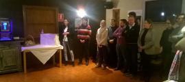 Un moment de la reunió de CC+DA+L'A amb els veïns d'Erts, Pal i Arinsal d'ahir a Erts.